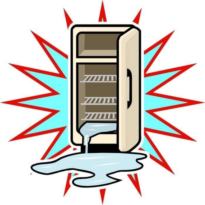 leaking refrigerator