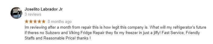 sub zero repair authorized service